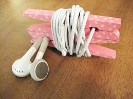 Halloween Clothespin Crafts by Diy Headphone Organizer From Clothespins Make Something Mondays