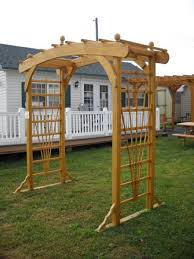 Garden Arbor Swing Amish Crafted Wood Arbors In 4ftand 8ft Width Pine Creek Structures