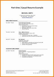 Supervisor Cv Sample 8 Cv Template For Students Part Time Job Job Resumed