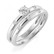 bridal ring sets uk 18ct white gold diamond bridal ring set from berry s jewellers