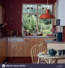 Enamel Sinks Kitchen Stained Glass Panels In Window Above Sink And Dishwasher In
