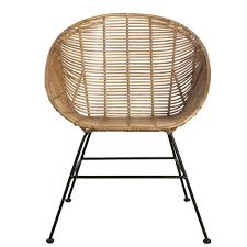 housedoctor retro lounge chair made of rattan brown 65 5x65x5x84