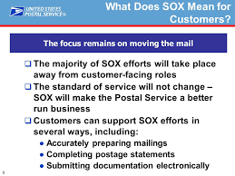 Postalone Help Desk 1 Sarbanes Oxley Sox And Business Mail Acceptance Long Island