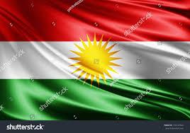 Kurdish Flag Kurdistan Flag Silk3d Illustration Stock Illustration 716127424