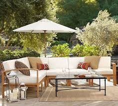 benchwright outdoor console table pottery barn 66 w towne