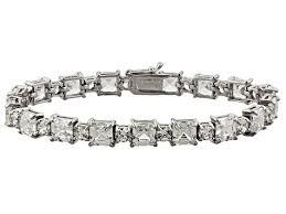 silver bracelet jewelry images Cubic zirconia sterling silver bracelet 36 00ctw dockl8 jpg