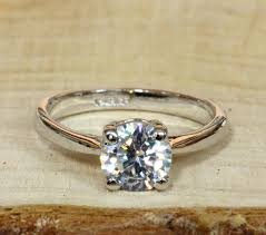 white topaz rings images On sale 18ct white gold filled solitaire 1 1ct natural white jpg
