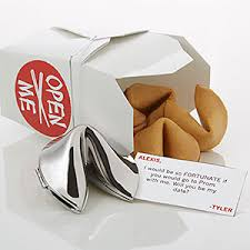 silver fortune cookie gift personalized fortune cookie will you be my date