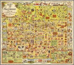 Vintage Map Cool Vintage Map Of Hollywood Earthly Mission