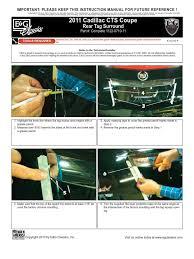 download 11 up cadillac cts rear spoiler installation manual carid