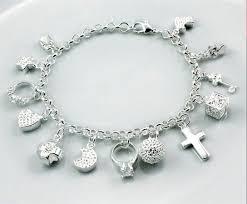 bracelet with charm images Silver charm bracelet on storenvy jpg