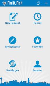 find it fix it service request mobile app customer service