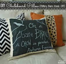Pottery Barn Fall Decor Ideas Fall Harvest Pottery Barn Knock Off Diy Chalkboard Pillow The