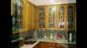 Glass Design For Kitchen Cabinets Delightful Kitchen Cabinets With Glass Doors Youtube