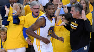 nba finals kevin durant stephen curry lead warriors to blowout