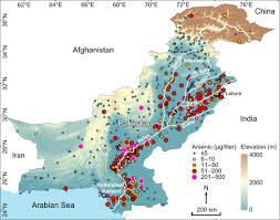 Map Of Indus River Extensive Arsenic Contamination In High Ph Unconfined Aquifers In