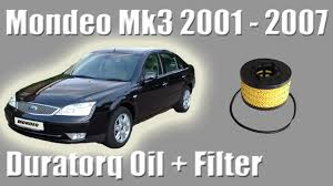 ford mondeo mk3 diesel duratorq 2 0 oil and filter change how to