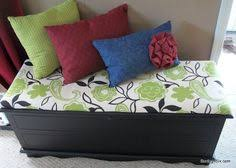 Build A Toy Box Bench Seat by Hope Chest Re Do With A Little Spray Paint And A Cushioned Lid