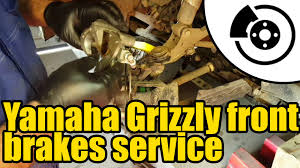1317 yamaha grizzly 450 front brakes service youtube