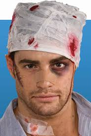 underdog halloween costume bloody head bandage costume hats halloween cosutme in