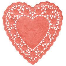 heart doily 6 paper heart doilies 1000