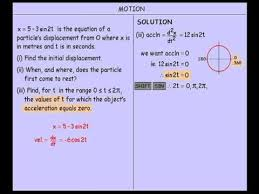 calculus motion involving trigonometric functions youtube