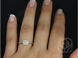 plain band engagement ring rosados box 5mm 14kt yellow gold f1 moissanite and