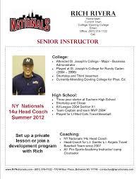 resume template sle 2017 ncaa brilliant ideas of sle resume softball coach resume sle german