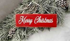 merry christmas sign rustic christmas decorations wooden