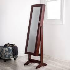 mirror and jewelry cabinet ksp sophia floor mirror jewellery cabinet brown kitchen stuff plus
