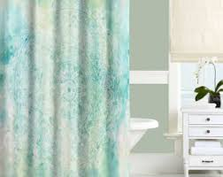 Turquoise Shower Curtain Mint Green Shower Curtain White Blue Aqua Turquoise