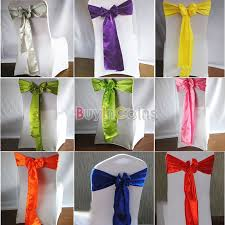 how to make chair sashes 1 10 20pcs 17 x 270cm satin chair sashes sash bow diy wedding