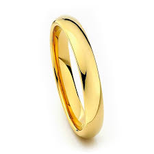 4mm ring gold tungsten ring 4mm from tungsten fashions