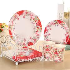 assiette jetable mariage livraison gratuite 100 ensembles fleur parti vaisselle