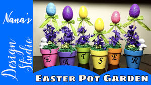 Youtube Easter Table Decorations by Diy Dollar Tree Easter Egg Garden Do It Yourself The Dollar