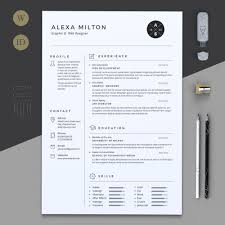 2 pages resume by estartshop on creativemarket graphicart