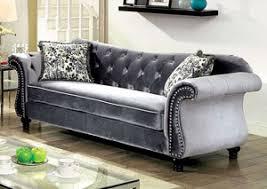 Curved Back Sofas Furniture Ville Bronx Ny Jolanda Blue Curved Back Sofa And Loveseat