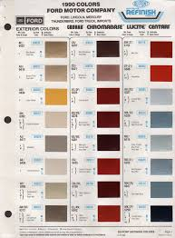 paint chips 1990 ford merkur