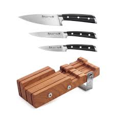 german kitchen knives cangshan s series german steel forged 4 piece starter knife block