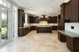 Commercial Kitchen Flooring Options White Kitchen Dark Tile Floors