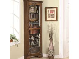 value city furniture curio cabinets coaster curio cabinets 5 shelf corner curio with 1 door acanthus