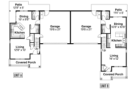duplex plans with garage in middle house duplex house plans with garages