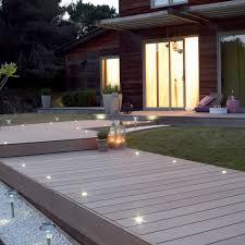 terrasses et jardin eclairage spots terrasse bois jardin extérieurs pinterest