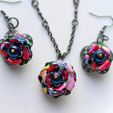 metal flower necklace images Eco jewelry absolutejewelry jpg