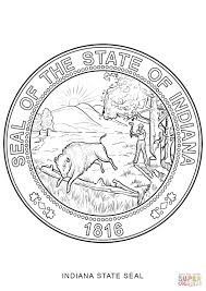 indiana state seal coloring page free printable coloring pages