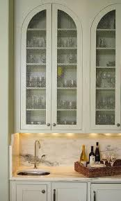 Cabinet Door Mesh Inserts Kitchen With Metal Mesh Cabinet Doors Transitional Kitchen