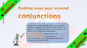conjunctions in german german grammar lesson by ten things