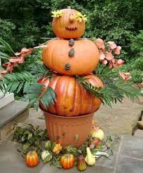 Halloween And Fall Decorations - elegant pumpkin topiaries decorating ideas family holiday net