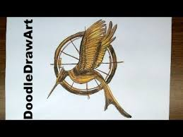 drawing hd how to draw a mockingjay pin from hunger games youtube