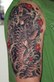 22 japanese dragon fish tattoos